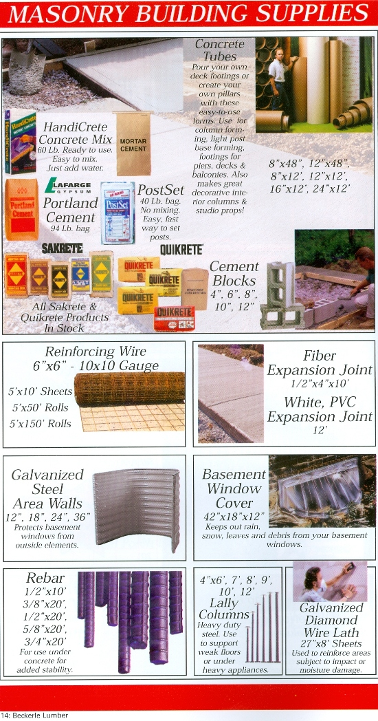 Masonry Building Supplies