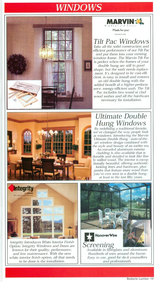 Beckerle Lumber - MARVIN Windows & Doors