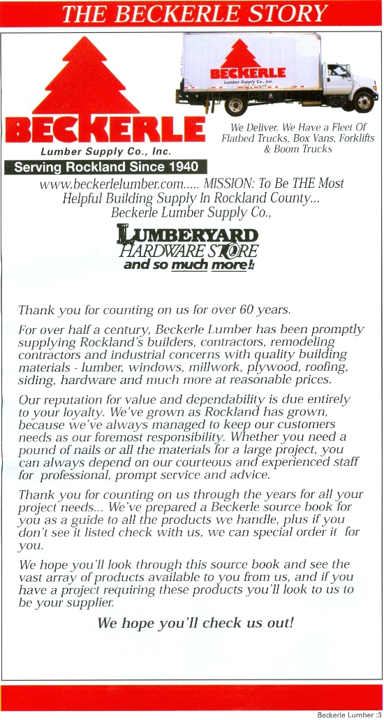 Beckerle lumber Source Book - Story