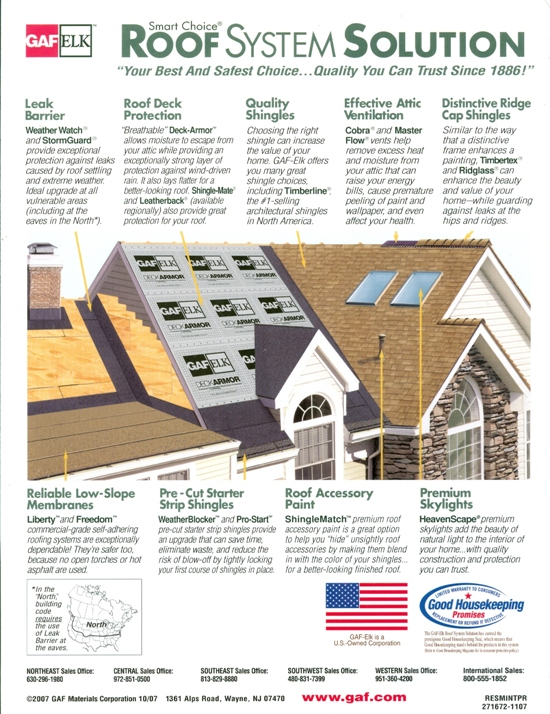 Beckerle Lumber   GAF   Roofing Systems