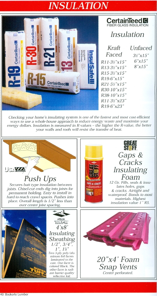 Beckerle Lumber Source Book - Insulation
