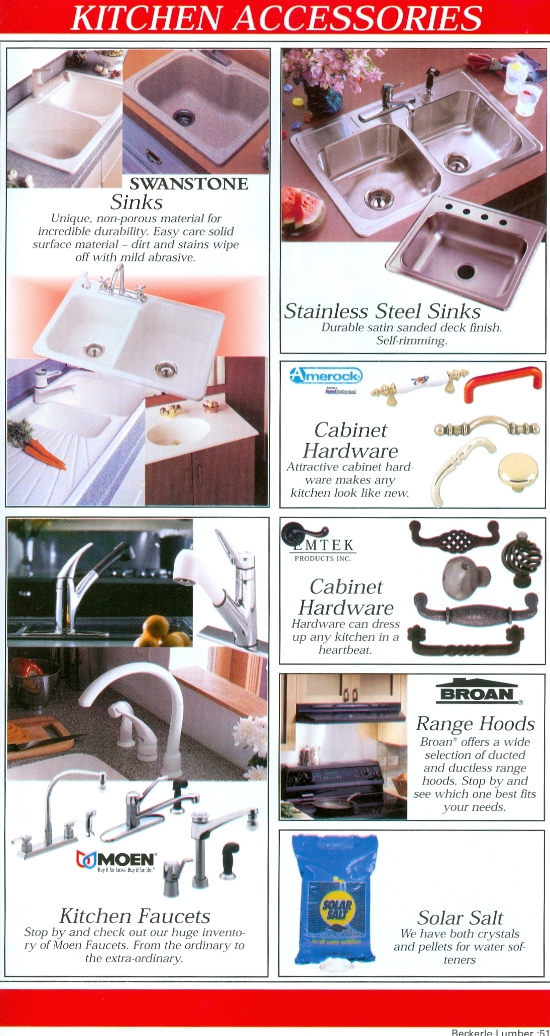 Beckerle Lumber Source Book - Kitchen Accessories