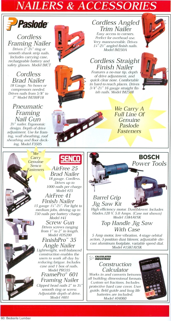 Beckerle Lumber Source Book - Nailers & Accessories