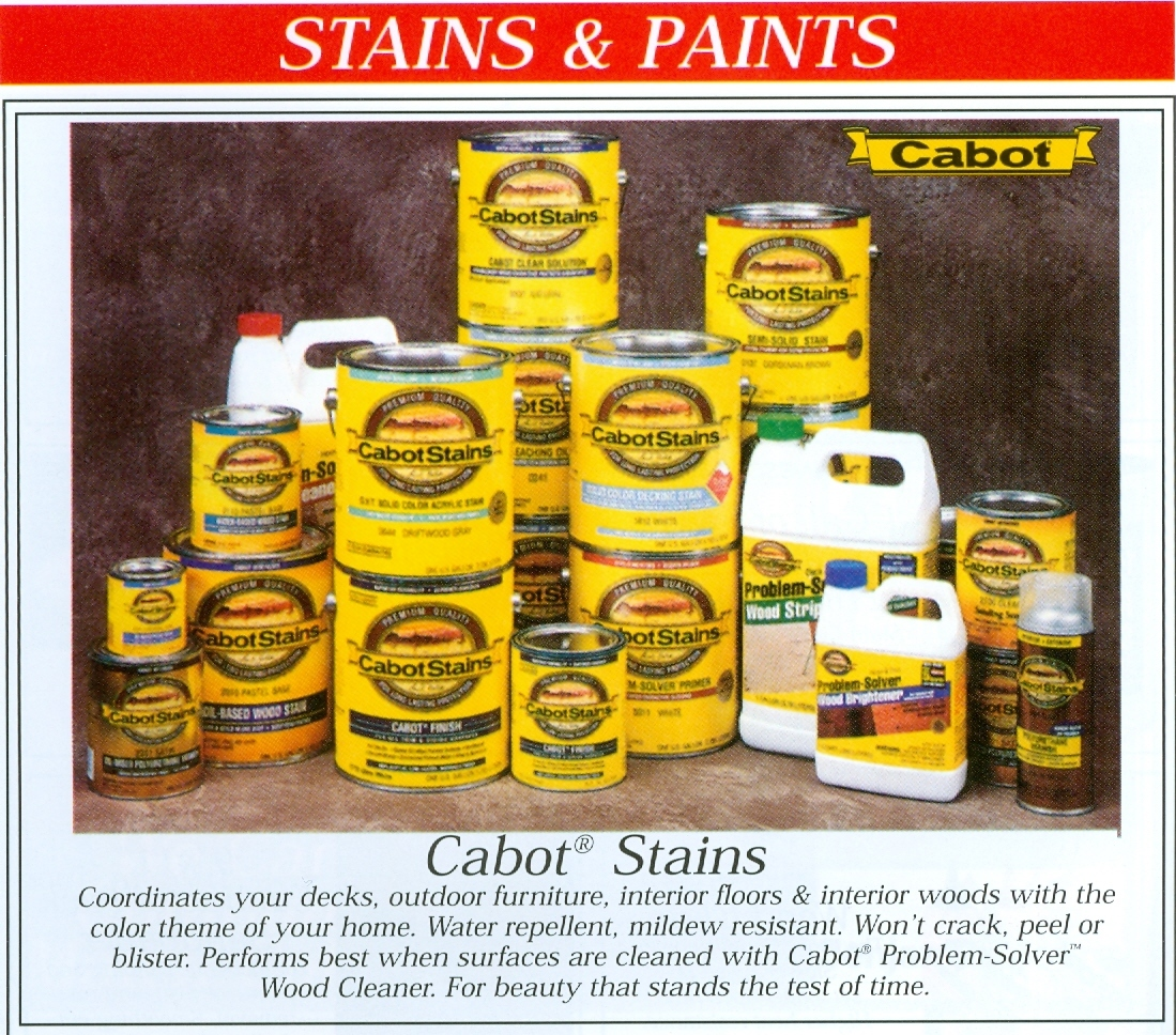 Beckerle Lumber Source Book - Cabot Stains