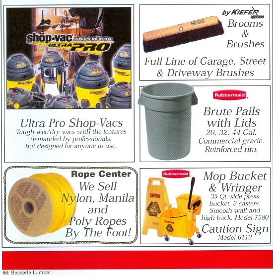 Beckerle Lumber Source Book - Cleaning Supplies