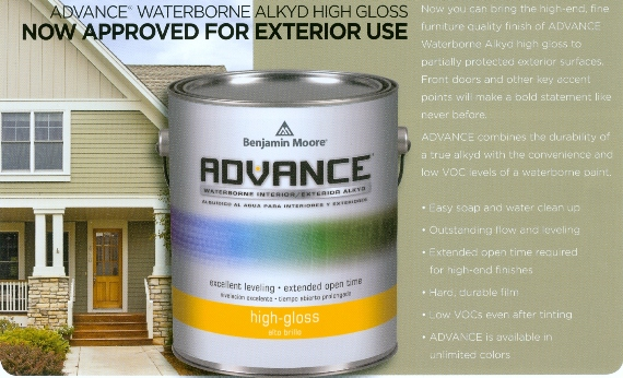 Beckerle lumber benjamin moore advance paint rockland for Benjamin moore paint program
