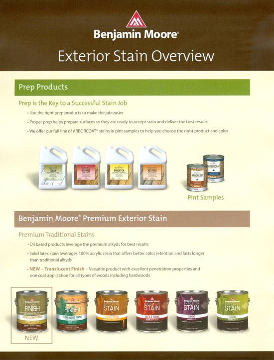 Beckerle Lumber Benjamin Moore Exterior Stain Guide Rockland County Ny