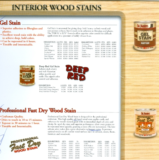 Gel & Fast Dry Stains Time for A Wood Makeover? Beckerle Lumber is your Wood Restore Store.
