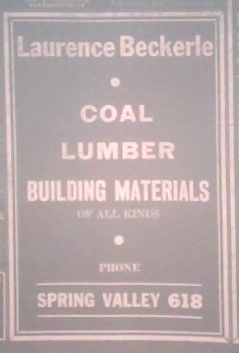 Beckerle lumber's first ad in Rockland County Review                   Feb 29 1940.