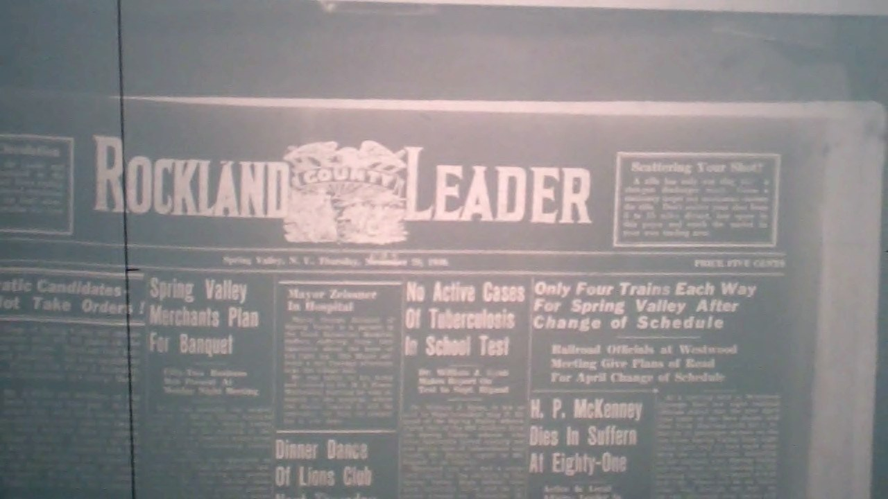 Rockland County Leader Front Page                   Feb 29 1940.
